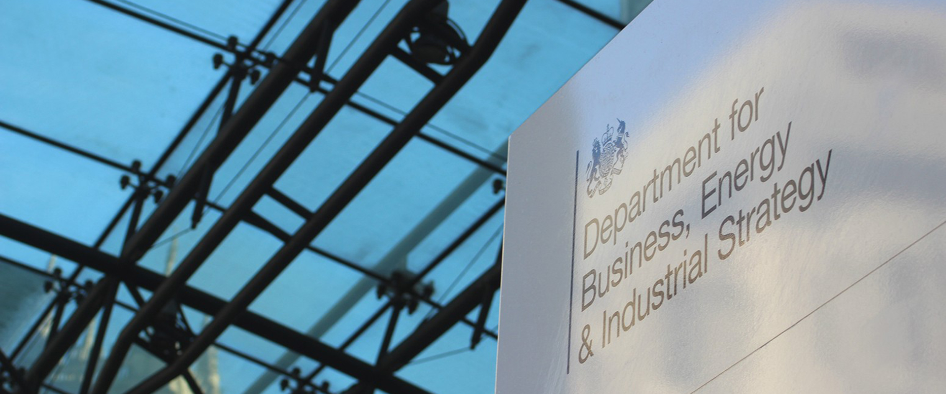 Department for Business Energy and Industrial Strategy sign